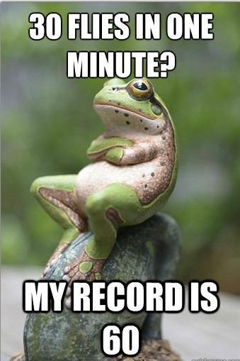 Unimpressed Frog. .