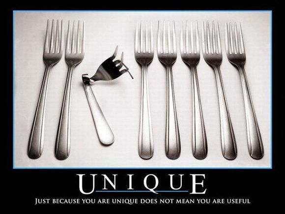 Unique. quick...look left. haha Got You