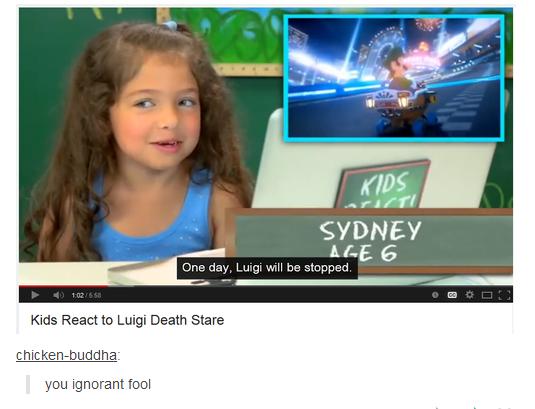 "Unstoppable. . Ghett SYDNEY ME G Lug will stunned Kids React to Luigi Death Stare b"" liea lla ignorant 'ifi%"