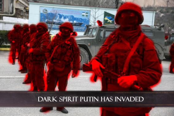 (untitled). . DARK SPIRIT PUTIN HAS INVADED allert. I feel relevant once again.