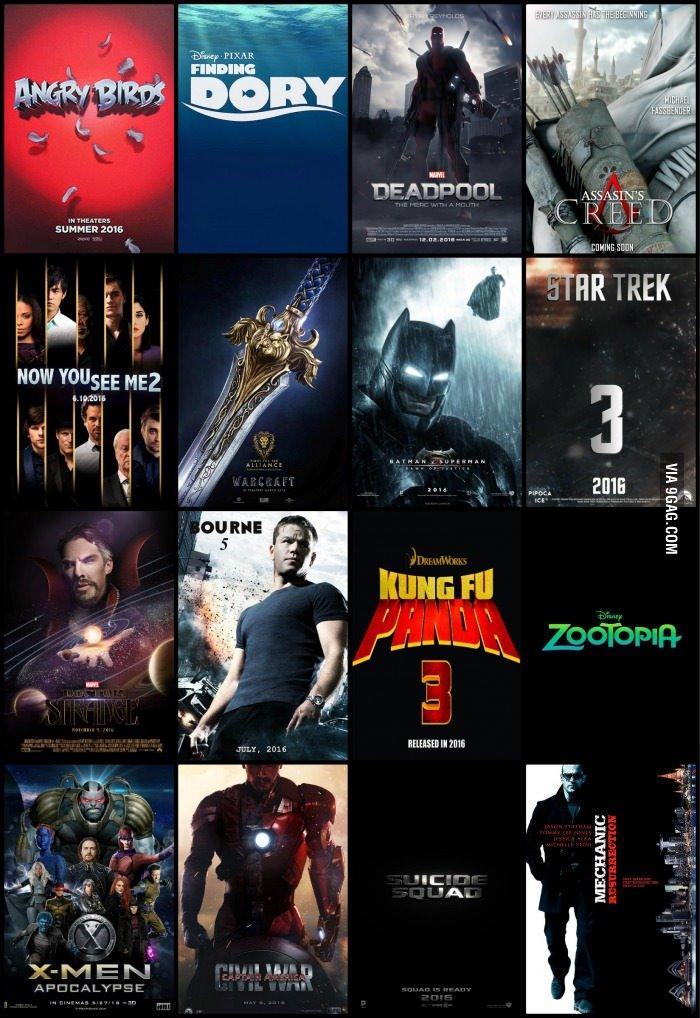 Upcoming movies of 2016