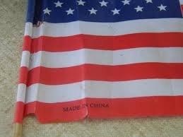 U.S.A! U.S.A! U.S.-- oh.. .. Have a Chinese flag made in the USA.