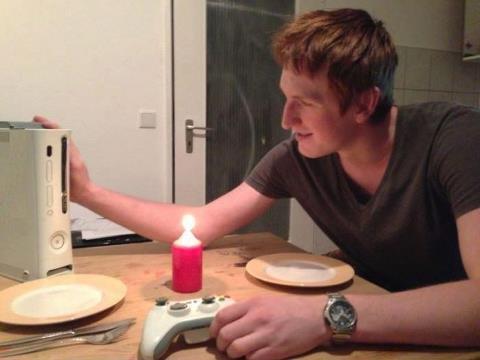Valentine's Day Dinner. still not te real me guys...