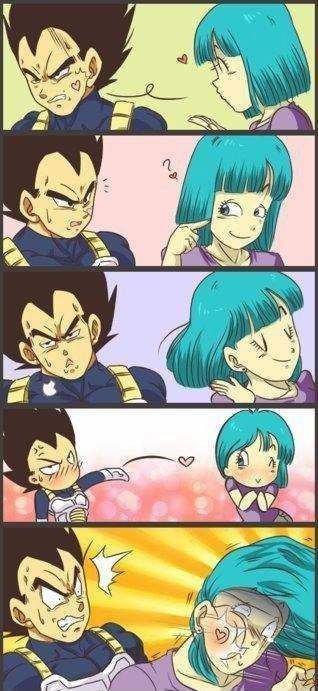 Vegeta's Death Kiss. .. well, love hurts