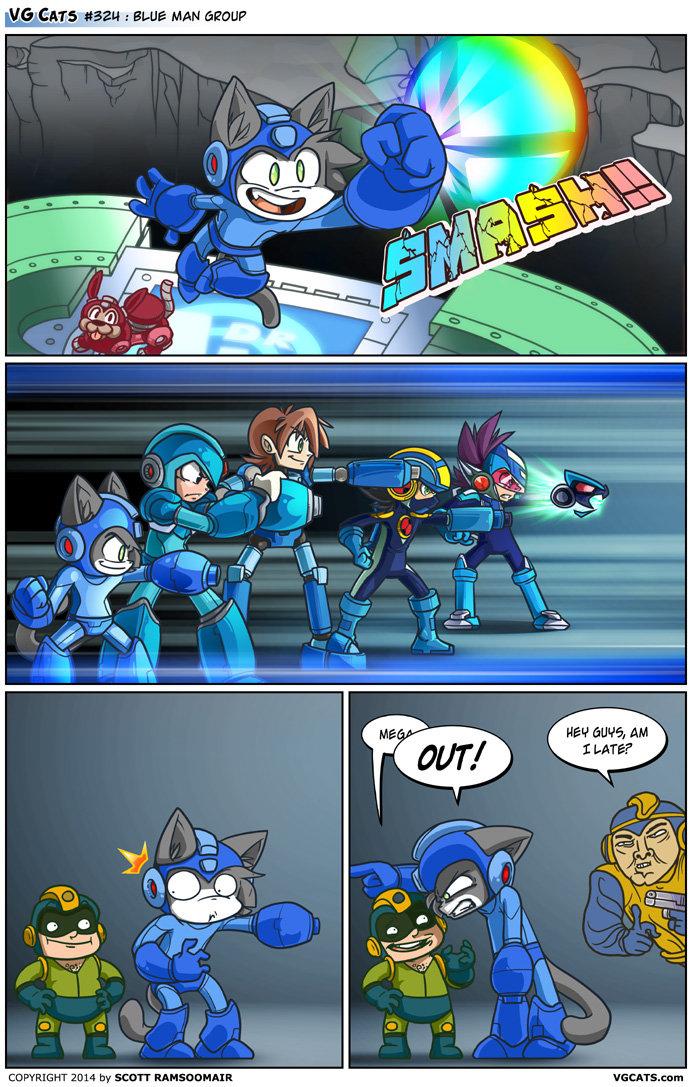 VG Cats - Blue Man Group. source: VG Cats - www.vgcats.com/comics/?strip_id=337.. Megaman X is best Megaman. mega man vg cats
