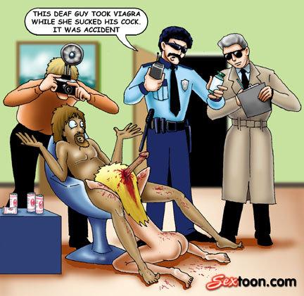 Viagra kills the hooker. Viagra - So hard it kills... OMG! He her brains out!! ba-dum-tish