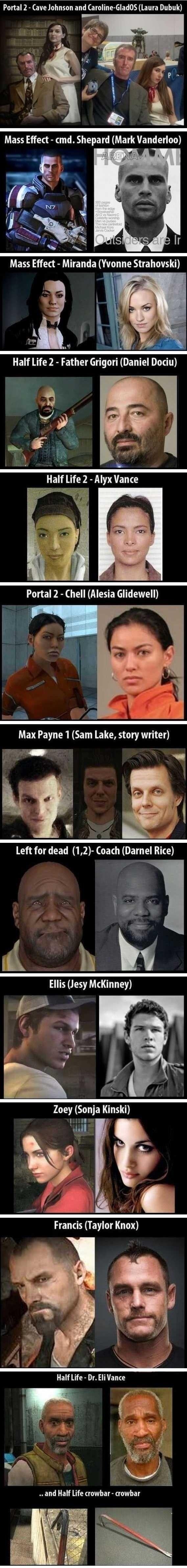 Video game lookalike's. . Portal 2 - Cave Johnson and (Laura DUNK) Left for dead (1, 2)- Coach (Darnel Rice) Ellis (Jew McKinney) i Zoey (Sonja Kinski) Francis
