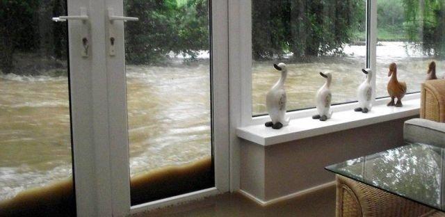 View trough window. river.. Where do you live?