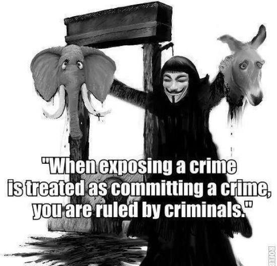 """Viva La Anonymous!. . EB """" crime. by criminals."""