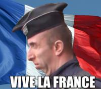 VIVA LA FRANCE. . iii, ii) mu: Iyi'. I see no lions here..