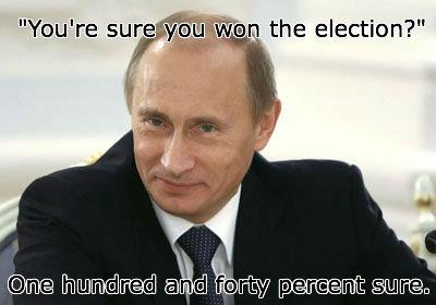"Vladimir Putin. Hop on the bandwagon, everyone!. sure 3: 14 the election?"""