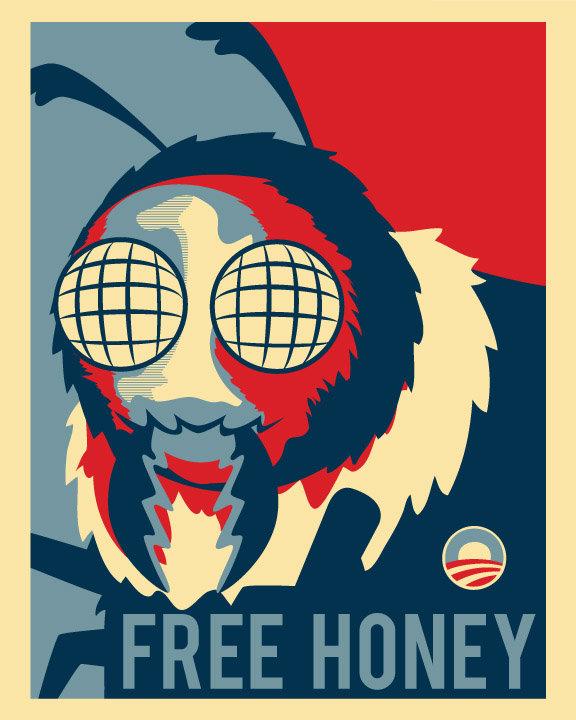 Vote Adam West? Why not Mayor Bee?. Free honey for everyone!!!.. REPOST