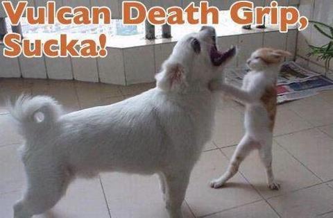 Vulcan Death Grip. Whats next?.. there is no vulcan death grip