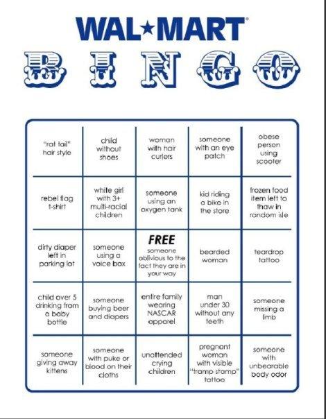 wal-mart bingo. .. BINGO! Aww. Someone giving away kittens? Aww... :D