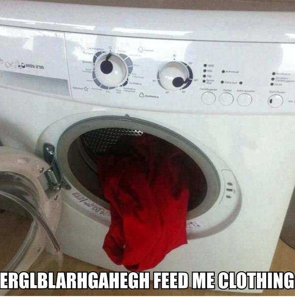 Washing Ma(n)chine. A man's gotta eat.. I'm a firin mah... Blazer?