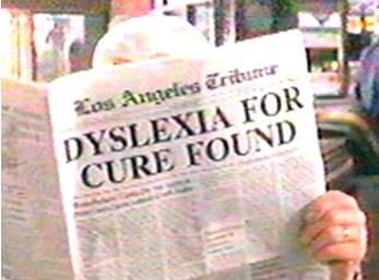 Watching Naked Gun 3 when... Not OC. Naked gun dyslexia Cure funny newspaper scene
