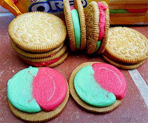 Watermelon oreo cookies. racist description.. SINCE WHEN?!