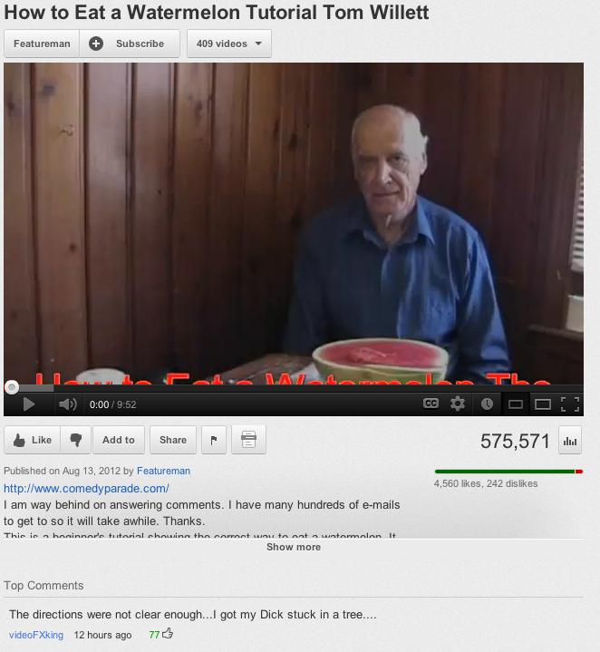 "Watermelons. . Hem: Eat ."" Watermelon Tutorial Tenn Waylett Featureing 'it) Subscribe r. . - I am way behind en answering mmi' iti' itemms I have many hundreds"