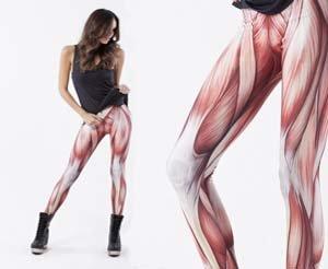 Way cooler than PJ's. Exposed muscle leggings.. Ultimate camel toe.