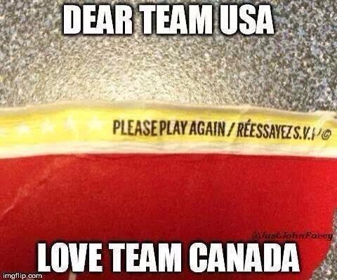 "We Are Winter!. . if it WE TEAM GAMER iii."".', Hockey Sochi 2014 canada usa Tim Hortons"