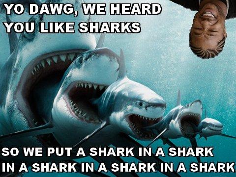 We heard you like sharks. Concentrated shark . so WE PUT A SHARK IN A SHARK IN A SHARK IN A SHARK IN A SHARK. < In a shark week. xzibit Shark
