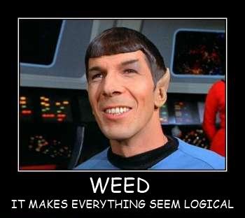 WEED. . WEED IT MAKES ) SEEM LOGICAL WEED MAKES EVERY
