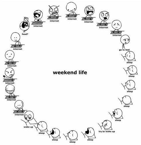 Weekend Life. And summer.... weekend life summer weekend Life internet sleep Food