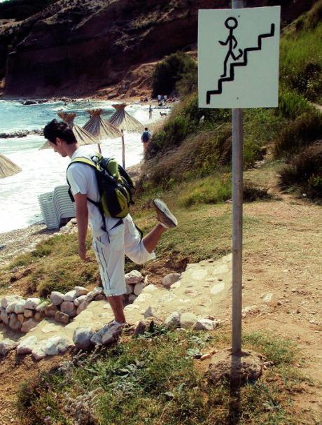Well, if it says so.... .. Steppin on the beach,doo doo doo.