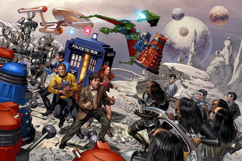 well sh!t. . Doctor Who Star Trek