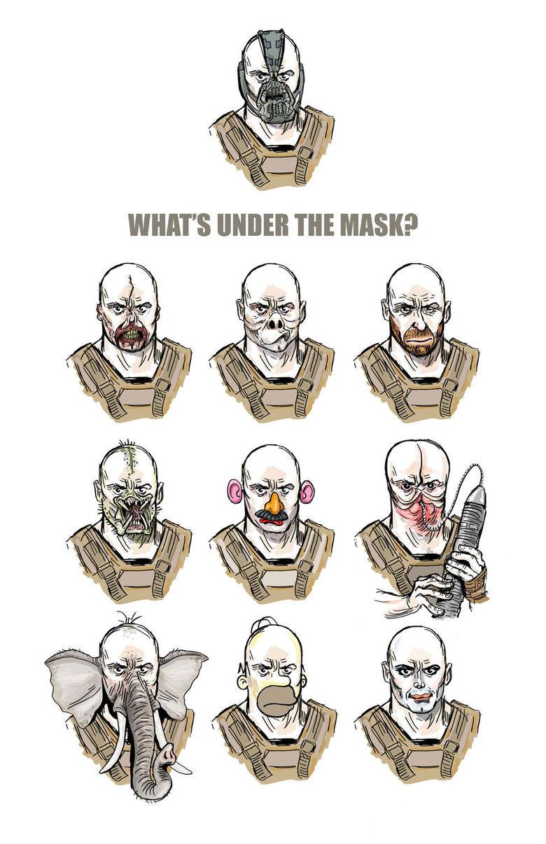 What's under the mask?. .. England's most violent criminal.