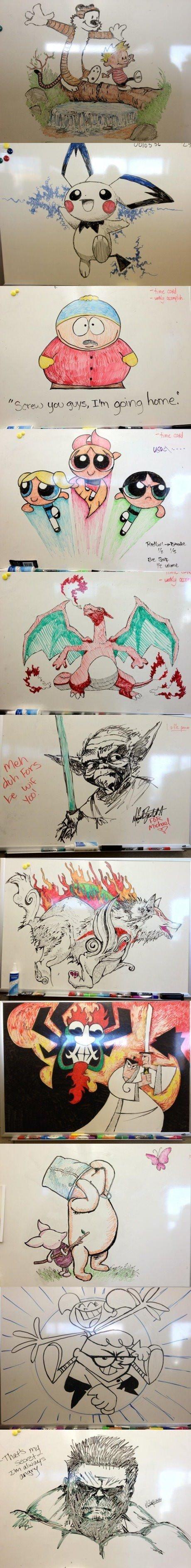 Whiteboard Drawings. .