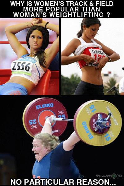 Why is Womens Track Popular?. . EN' S TRACK & FIELD PILAFS THAN NO rollie' REASON.... German weightlifter Julia Rohde. suck it, OP!
