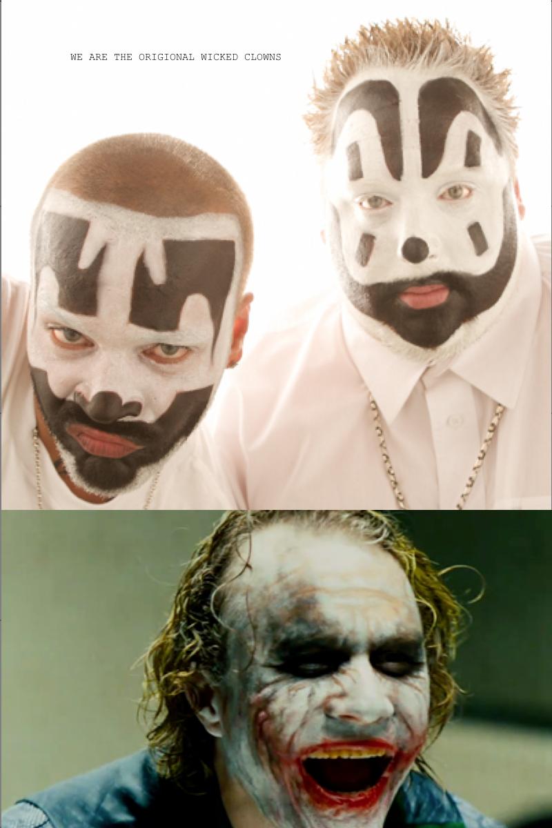 "Wicked Clowns. First comic. WE twatt THE ' VICI' =.'. EEI- CLONES. ""Kiss me fat boy"" ~ Bozo the Clown batman"