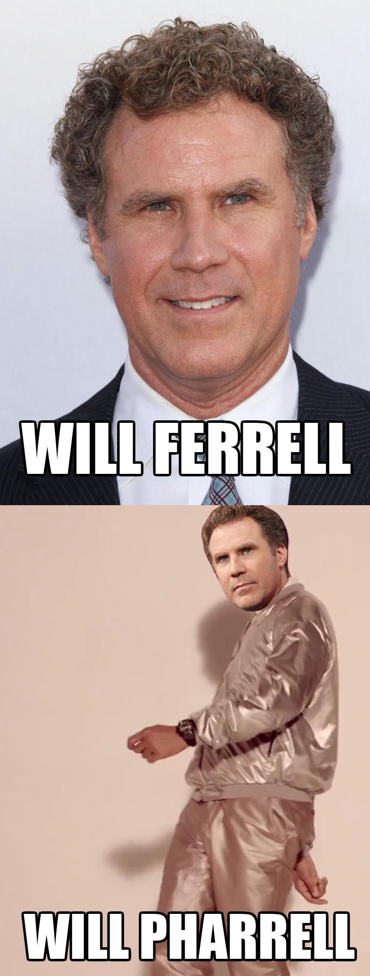 Will Ferrell. Sudden realization.
