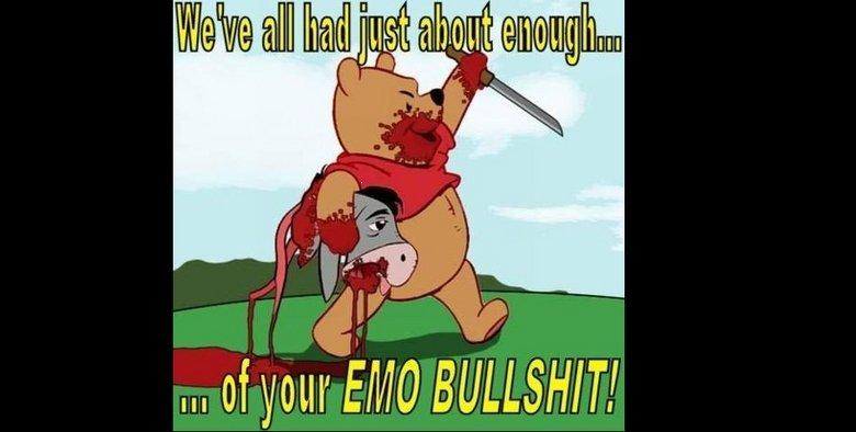 Winnie the thug. . Itt of yours/ Mo !. trufax awwwww snap