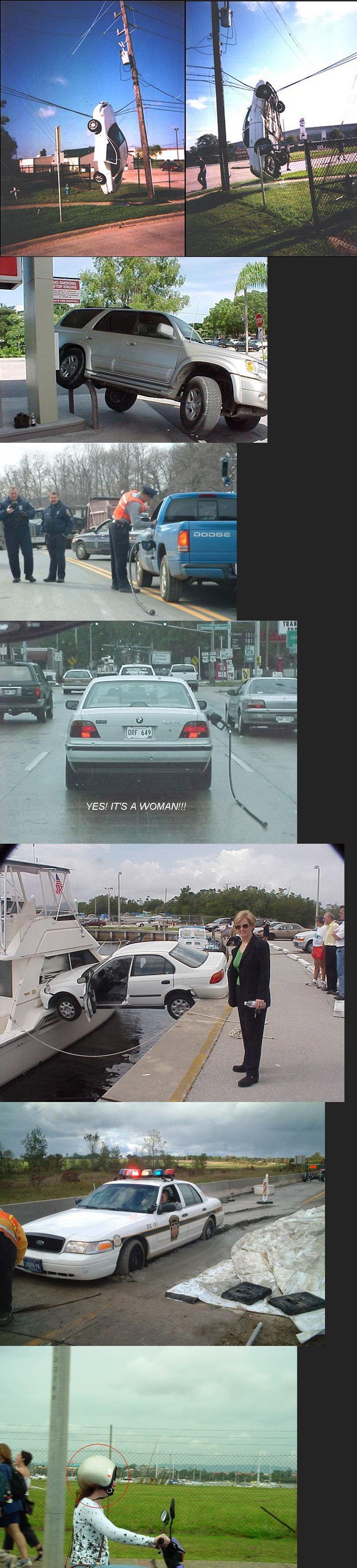 Women Drivers. Definitely women drivers. And no I am not sexist it is just a joke... last one i was liek HURRRR DURRRR