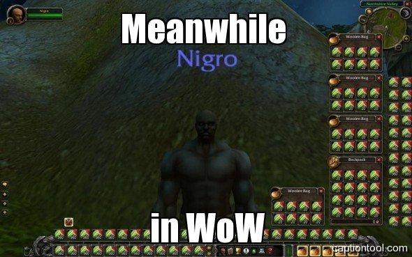 World of Niggercraft. . adas, W. vih sits turi, unbias?» gag Fax.