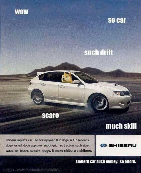Wow. Such car.. . much skill 1! llorar impire: a car. an I] ll!? 'IBS/ ltr -nari , iat. blacks. an rim. - Linage, it at shigeru.