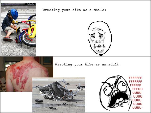 Wrecking your bike. It only gets worse..... uguu uguu l LILILI LOLH.. ILIA