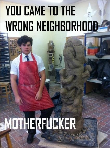 wrong neighborhood. . wanna Metall' PIN i. KER