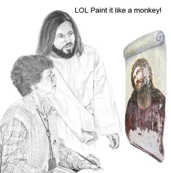 wtf jesus. . it like a monkeys LOL Paint blub im a bike