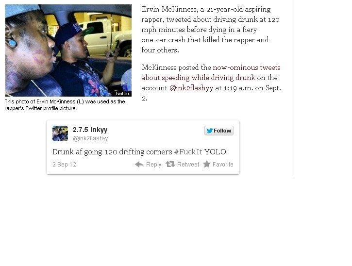 Drunk Driver Tweets Yolo