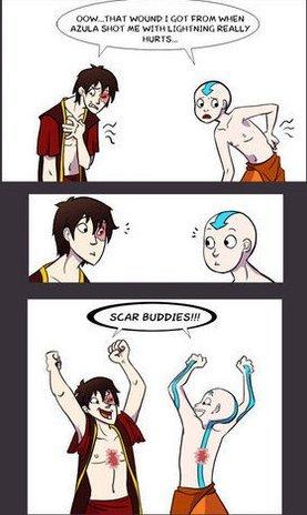 Yay.. Sorry if repost ;-;.. Zuko already had a scar.