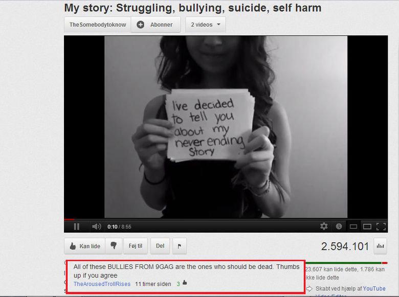 yeah... 9gag. found on youtube. My story: Struggling, bullying, suicide, self harm tlt Alarmed _ up NEH agree kke we dette