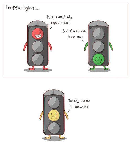 Yellow light feels. . Traffic lights... Nahum; listens ta meo, taer' t.