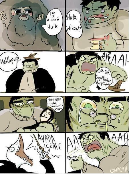 Yer A Wizard Hulk. .. when allergy season starts Harry Potter Hulk comic