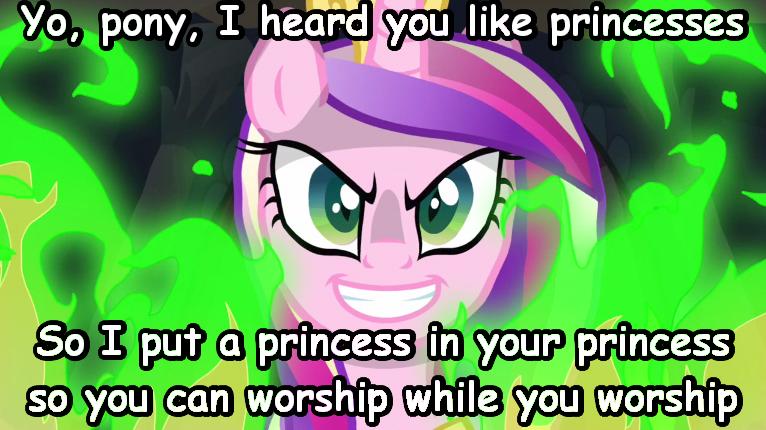Yo Dawg. Carboniteponeight and I shall ponify all the memes.. worship pony, I Heard prai iii/ ll