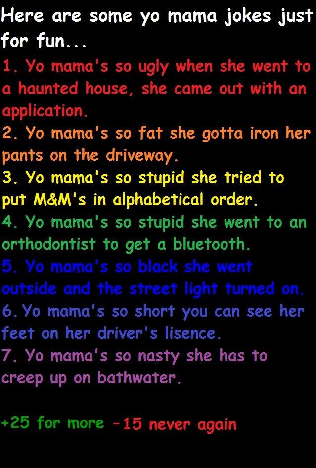 Pin 100 yo mama jokes on pinterest