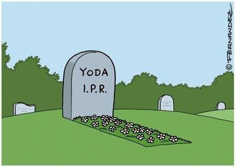 Yoda's tombstone.... .. I pee red Yodas TOMBSTONE haha funny lol