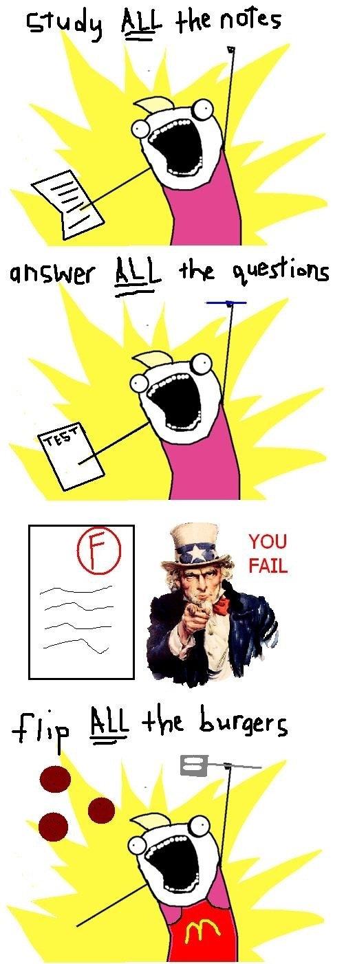 You fail. .